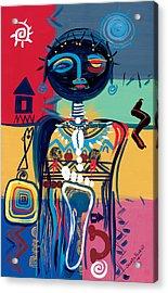 Dreaming Of Africa Acrylic Print by Oglafa Ebitari Perrin