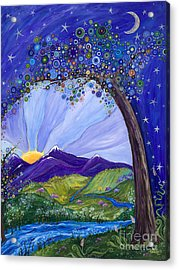 Dreaming Tree Acrylic Print by Tanielle Childers