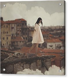 Dreams In Old Porto Acrylic Print by Anka Zhuravleva