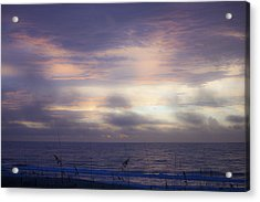 Dreamy Blue Atlantic Sunrise Acrylic Print by Teresa Mucha