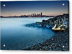 Dreamy Seattle Skyline Acrylic Print by Sanyam Sharma