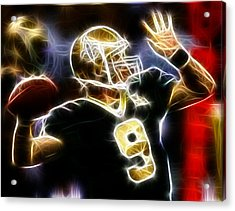 Drew Brees New Orleans Saints Acrylic Print by Paul Van Scott