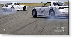 Drifting Couple Acrylic Print by Andy Smy