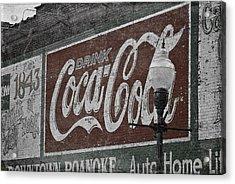 Drink Coca Cola Roanoke Virginia Acrylic Print by Teresa Mucha