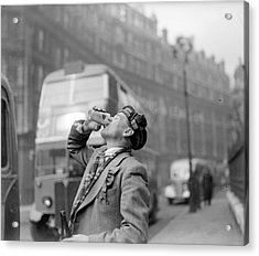 Drinking Beer Acrylic Print by John Drysdale