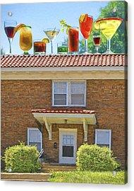 Drinks On The House Acrylic Print by Nikolyn McDonald