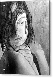 Dripping Acrylic Print by Erika Farkas