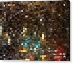 Driving Rain Acrylic Print by Sarah Loft
