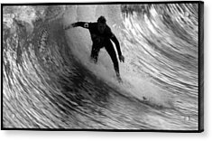 Dropping In At San Clemente Pier Acrylic Print by Brad Scott