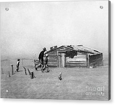 Drought: Dust Storm, 1936 Acrylic Print by Granger