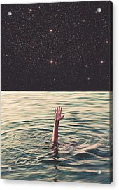 Drowned In Space Acrylic Print by Fran Rodriguez