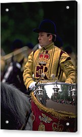 Acrylic Print featuring the photograph Drum Horse At Trooping The Colour by Travel Pics
