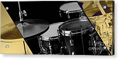 Drum Set Collection Acrylic Print by Marvin Blaine