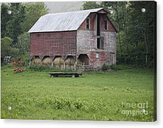 Dry Fork Red Acrylic Print by Randy Bodkins