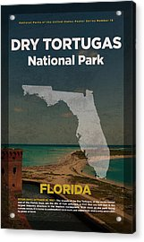 Dry Tortugas National Park In Florida Travel Poster Series Of National Parks Number 19 Acrylic Print by Design Turnpike