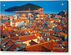 Dubrovnik Rooftops Acrylic Print by Inge Johnsson