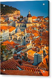 Dubrovnik Sunset Acrylic Print by Inge Johnsson