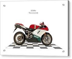 Ducati 1098s Tricolore Acrylic Print by Mark Rogan
