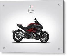 Ducati Diavel Carbon Acrylic Print by Mark Rogan