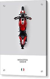 Ducati Monster 1200 R Acrylic Print by Mark Rogan