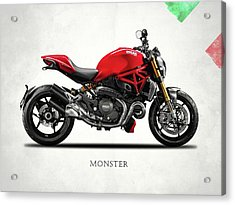 Ducati Monster Acrylic Print by Mark Rogan