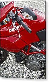 Ducati Red Acrylic Print by Diane E Berry