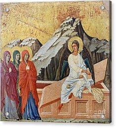 Duccio - Three Marys Acrylic Print by Granger