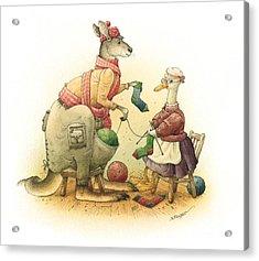 Duck And Kangaroo Acrylic Print by Kestutis Kasparavicius