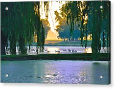 Duck Pond At Dawn Acrylic Print by Bill Cannon
