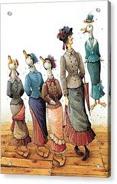 Ducks Dance Acrylic Print by Kestutis Kasparavicius