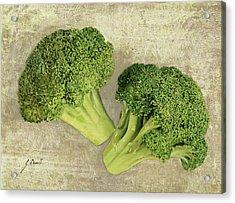 Due Broccoletti Acrylic Print by Guido Borelli
