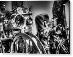 Dueling Projectors Acrylic Print by Scott Norris