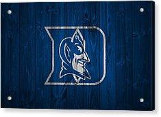 Duke Blue Devils Barn Door Acrylic Print by Dan Sproul