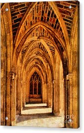 Duke Chapel Acrylic Print by Betsy Foster Breen