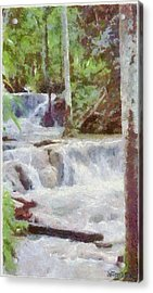 Dunn River Falls Acrylic Print by Jeff Kolker