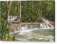 Dunn's River Falls - Another View Acrylic Print by Charles Kozierok