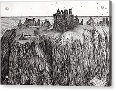 Dunottar Castle Acrylic Print by Vincent Alexander Booth