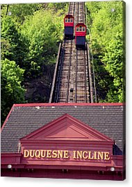 Duquesne Incline Acrylic Print by Tom Leach