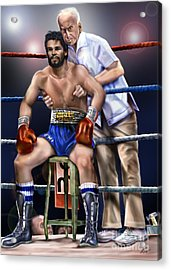 Duran Hands Of Stone 1a Acrylic Print by Reggie Duffie