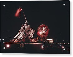 During Independence Day Celebrations Acrylic Print by Joseph H. Bailey