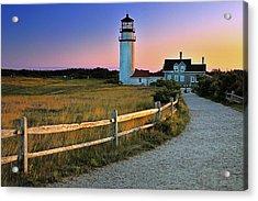 Dusk At Cape Cod Lighthouse Acrylic Print by Thomas Schoeller