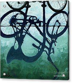 Dusk Shadows - Bicycle Art Acrylic Print by Linda Apple