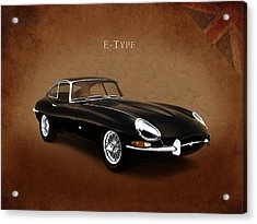 E Type Jaguar Acrylic Print by Mark Rogan