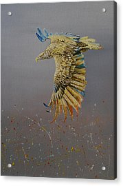 Eagle-abstract Acrylic Print by Maria Woithofer