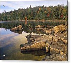 Eagle Lake Acadia National Park Maine Acrylic Print by Tim Fitzharris