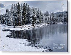 Early Fall Storm In Yellowstone Acrylic Print by Sandra Bronstein