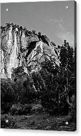Early Morining Zion B-w Acrylic Print by Christopher Holmes