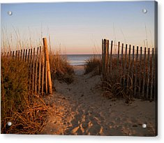Early Morning At Myrtle Beach Sc Acrylic Print by Susanne Van Hulst