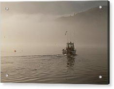 Early Morning Fishing Boat Acrylic Print by Chad Davis