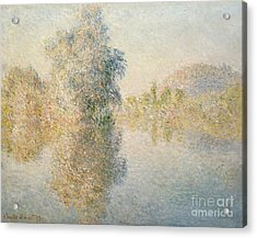 Early Morning On The Seine At Giverny Acrylic Print by Claude Monet